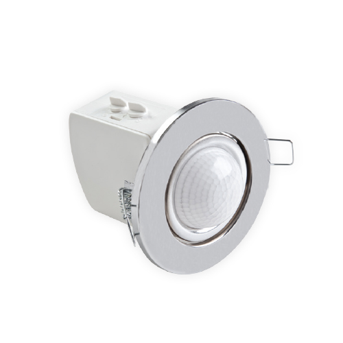 360º Digital Flus-Mounted Ceiling Type Motion Trio Sensor Chrome