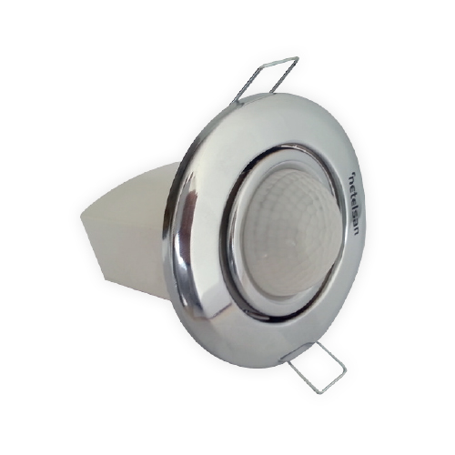 Movable Head 360º Digital Flush-Mounted Ceiling Type Motion Sensor Chrome